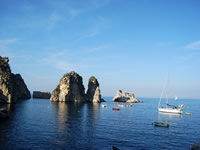 Beaches and diving in Scopello